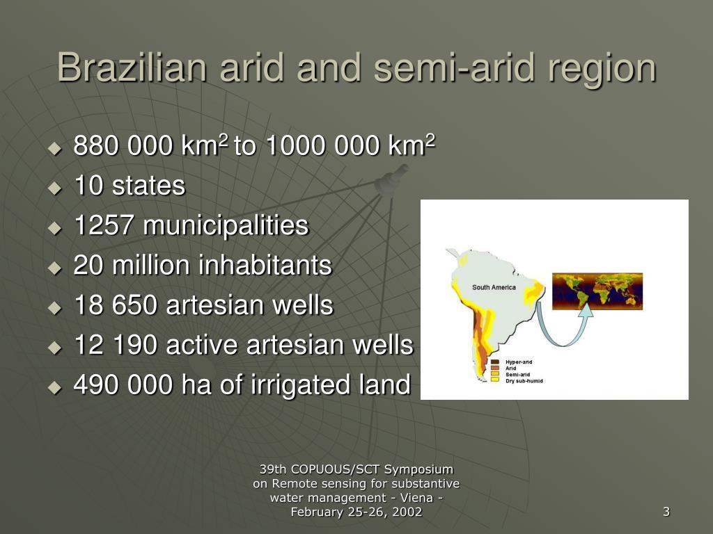 Brazilian arid and semi-arid region