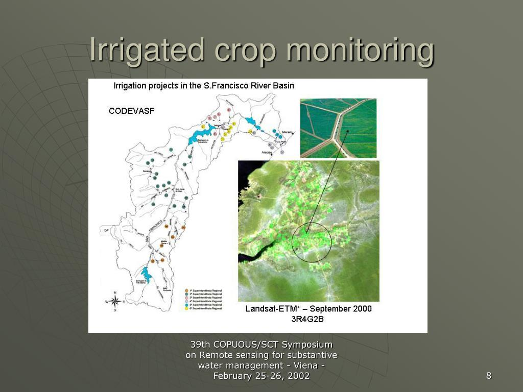 Irrigated crop monitoring