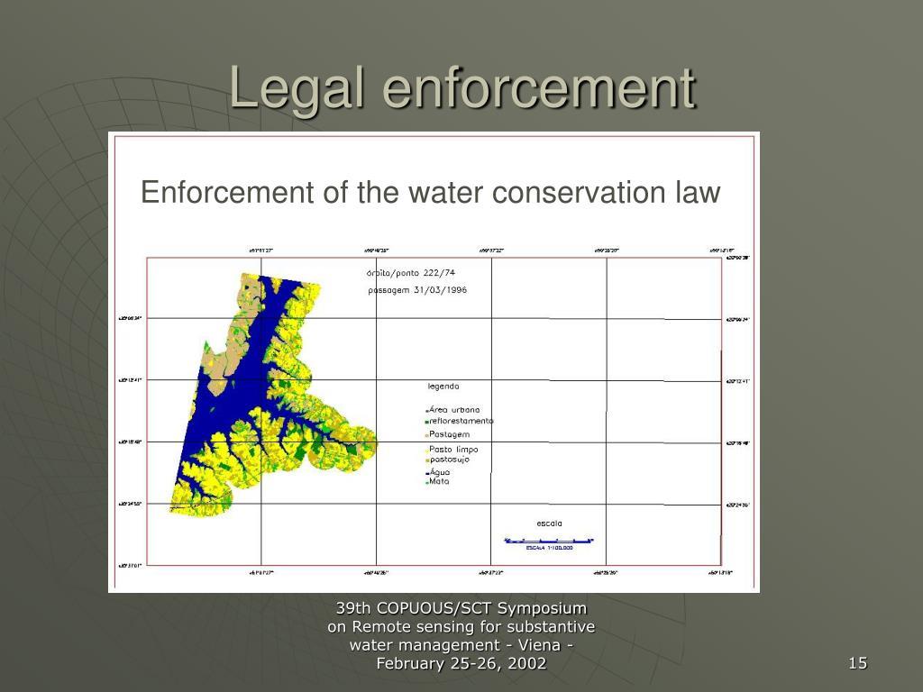 Legal enforcement