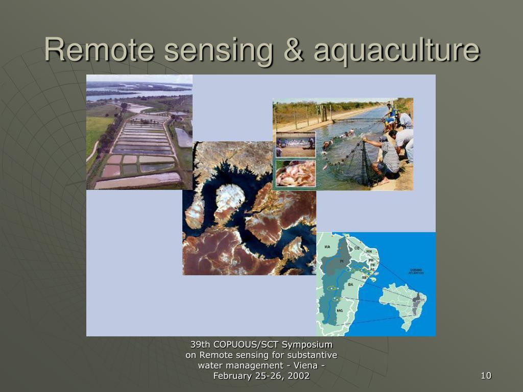 Remote sensing & aquaculture