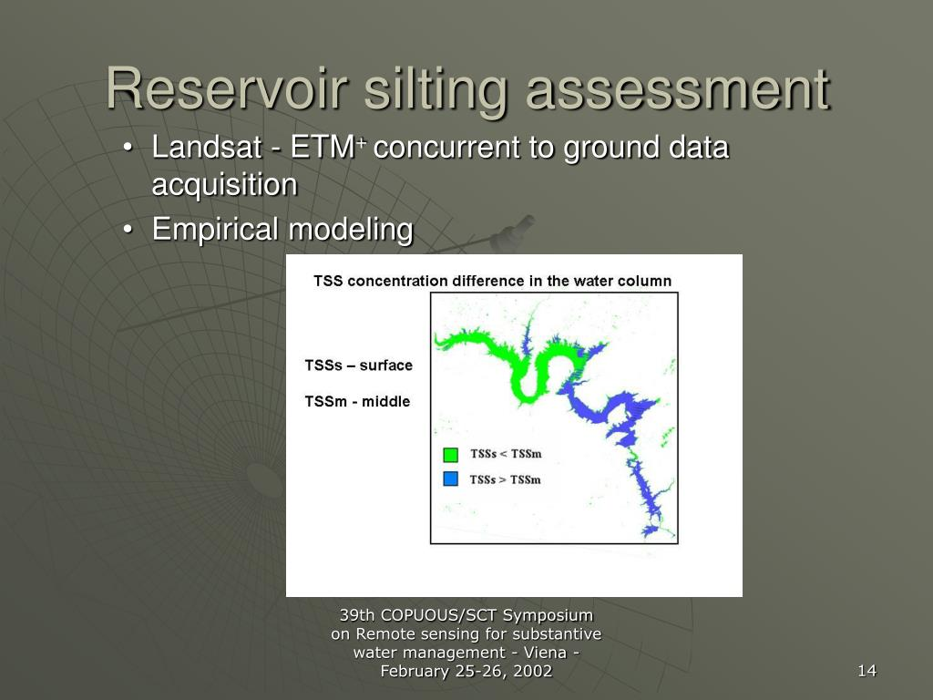Reservoir silting assessment