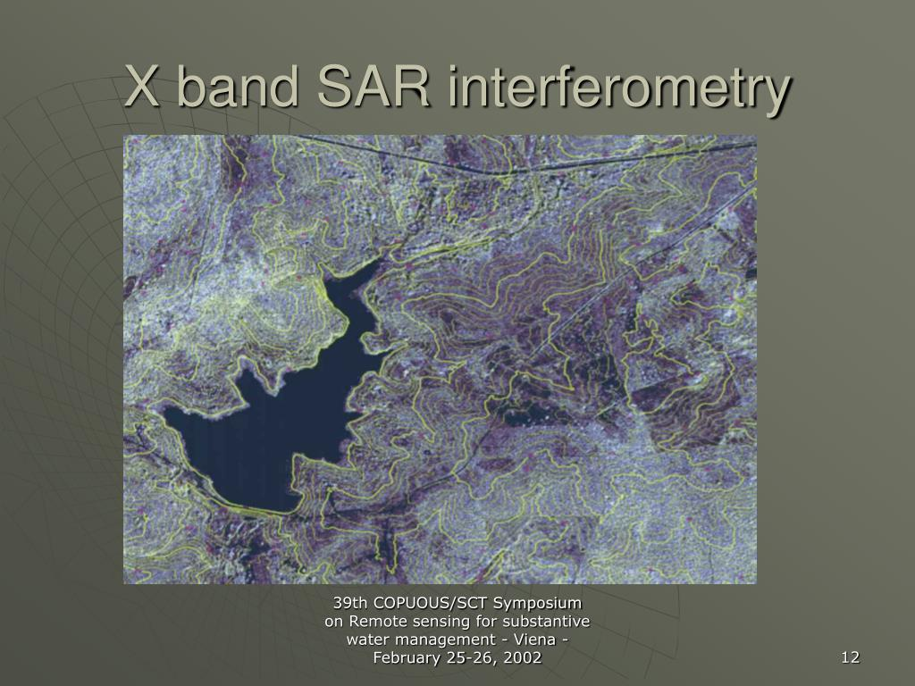X band SAR interferometry
