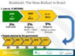 biodiesel the new biofuel in brazil