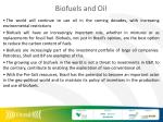 biofuels and oil