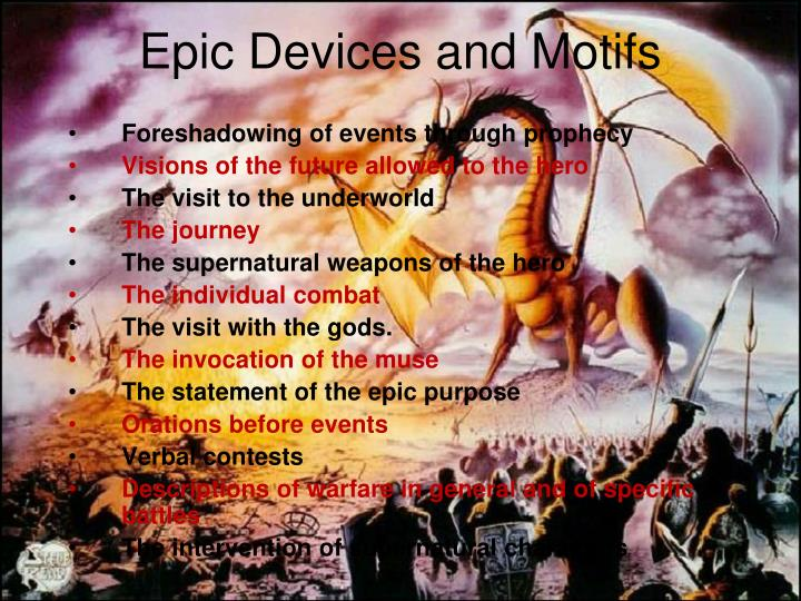 Epic Devices and Motifs