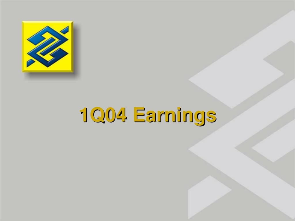 1Q04 Earnings