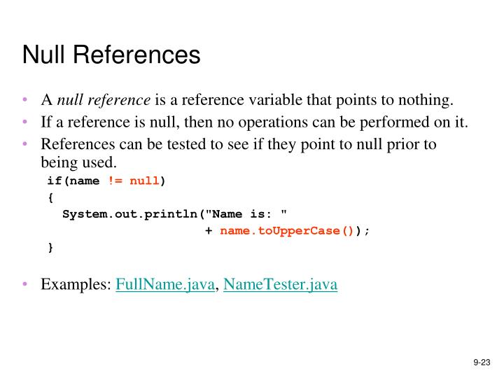 Null References