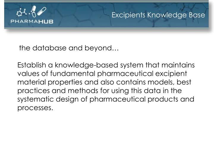 Excipients Knowledge Base
