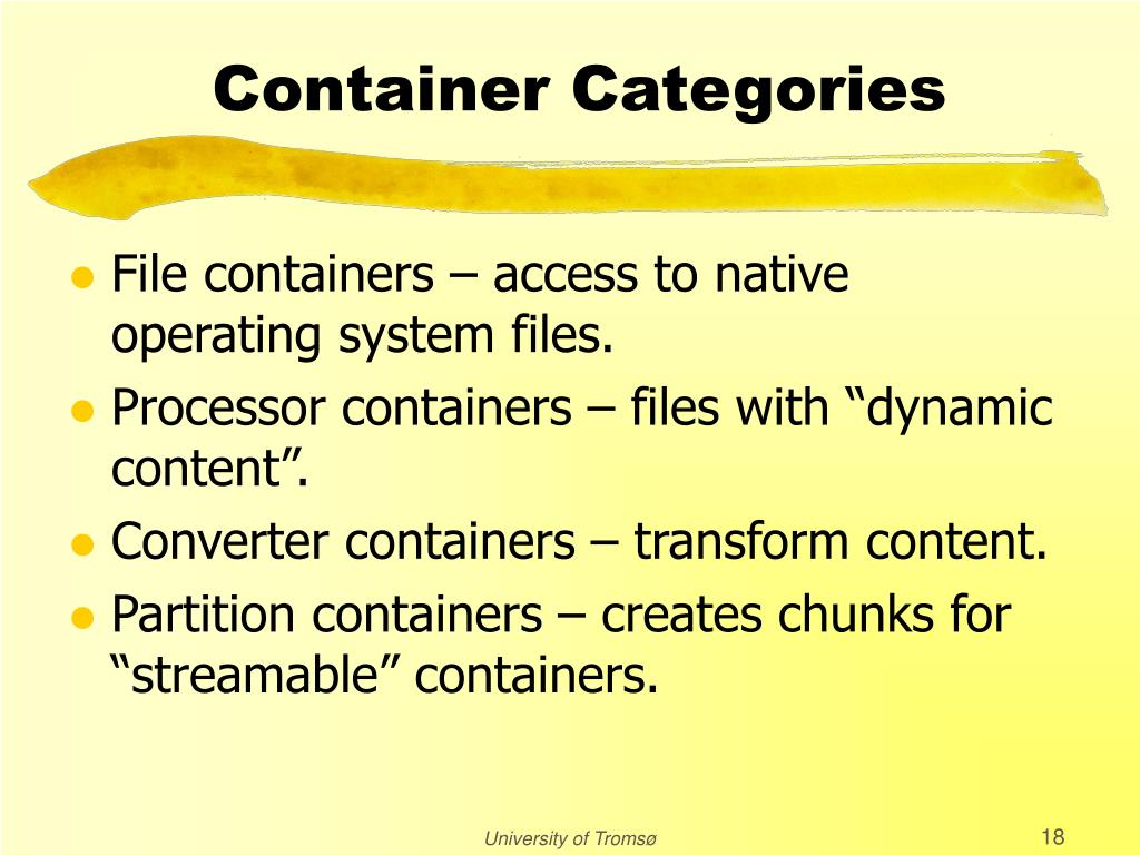 Container Categories