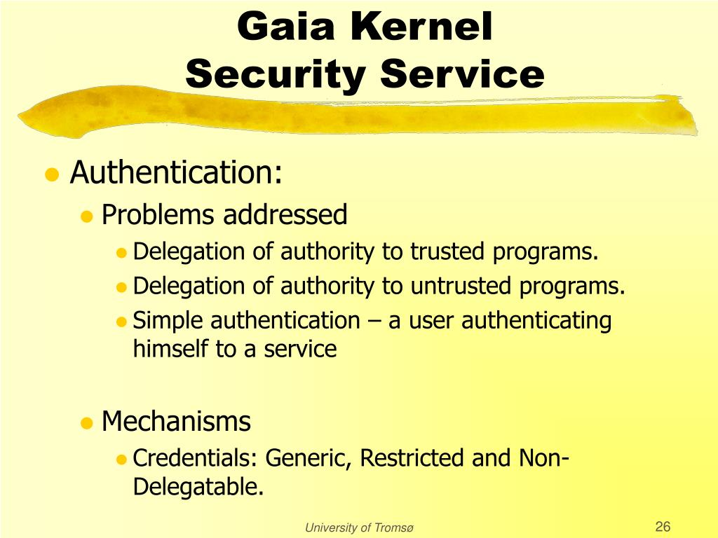 Gaia Kernel