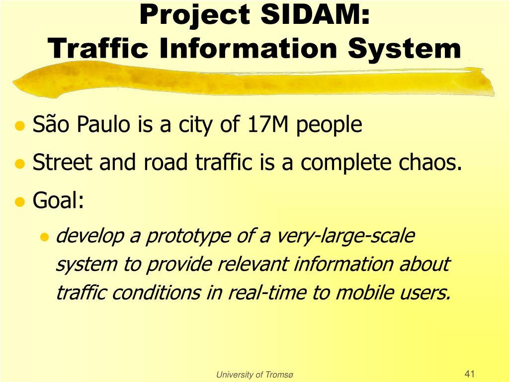 Project SIDAM: