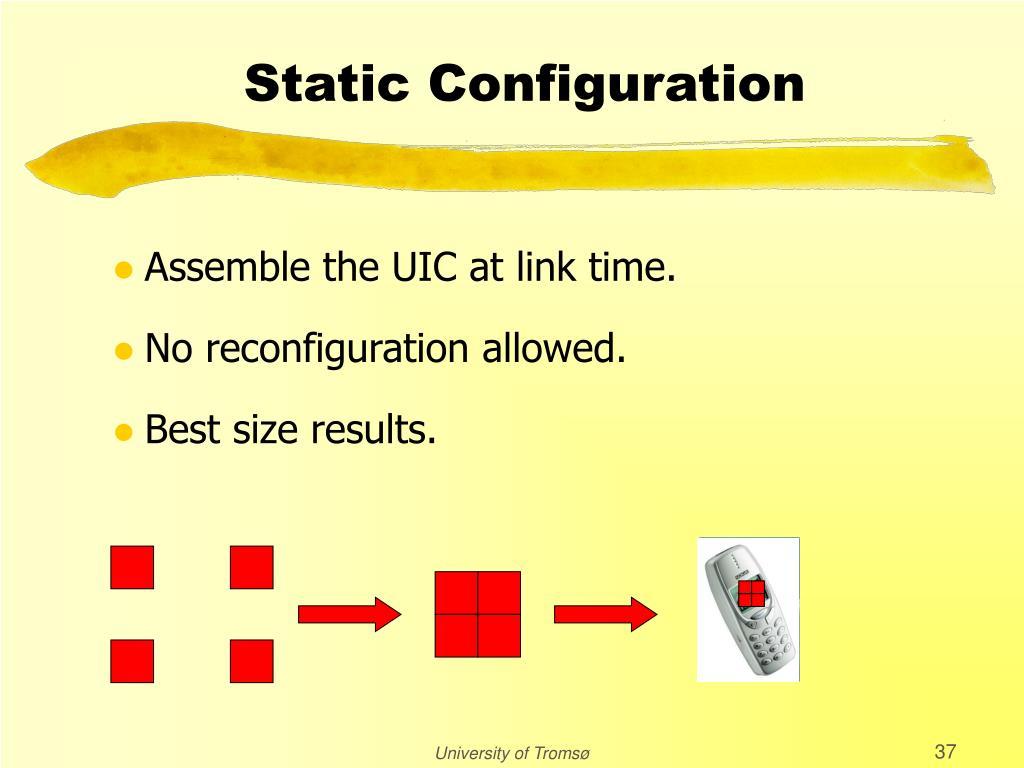 Static Configuration