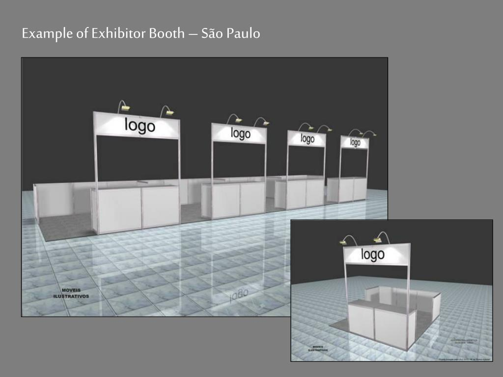 Example of Exhibitor Booth – São Paulo