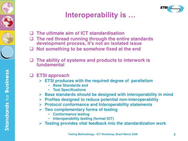 Interoperability is