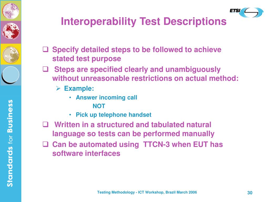 Interoperability Test Descriptions