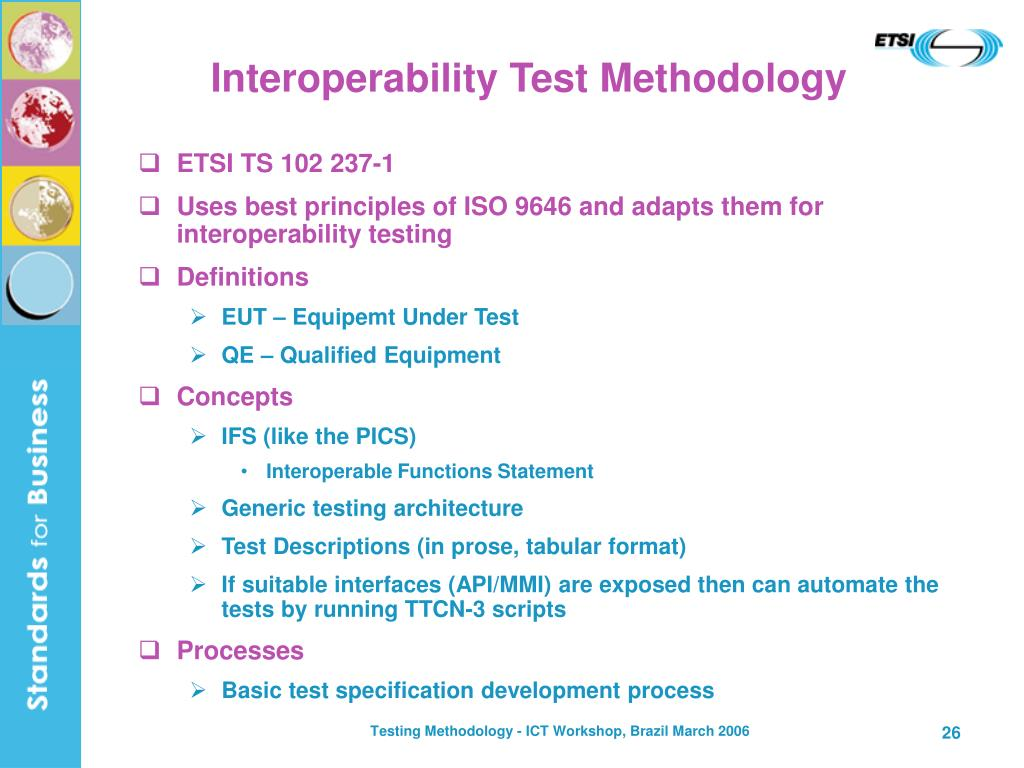 Interoperability Test Methodology