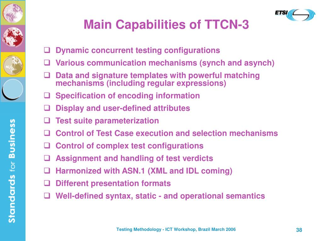 Main Capabilities of TTCN-3