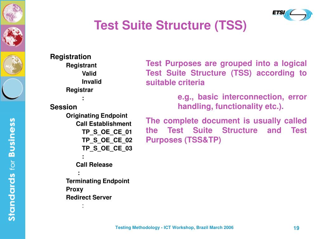 Test Suite Structure (TSS)