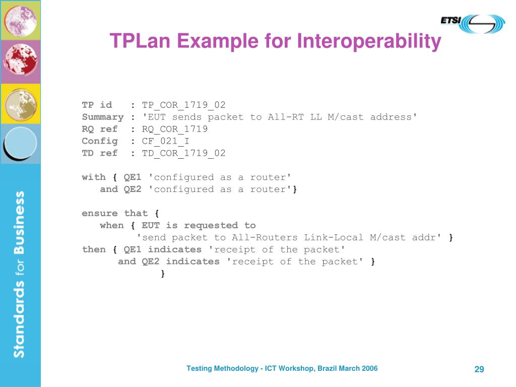 TPLan Example for Interoperability