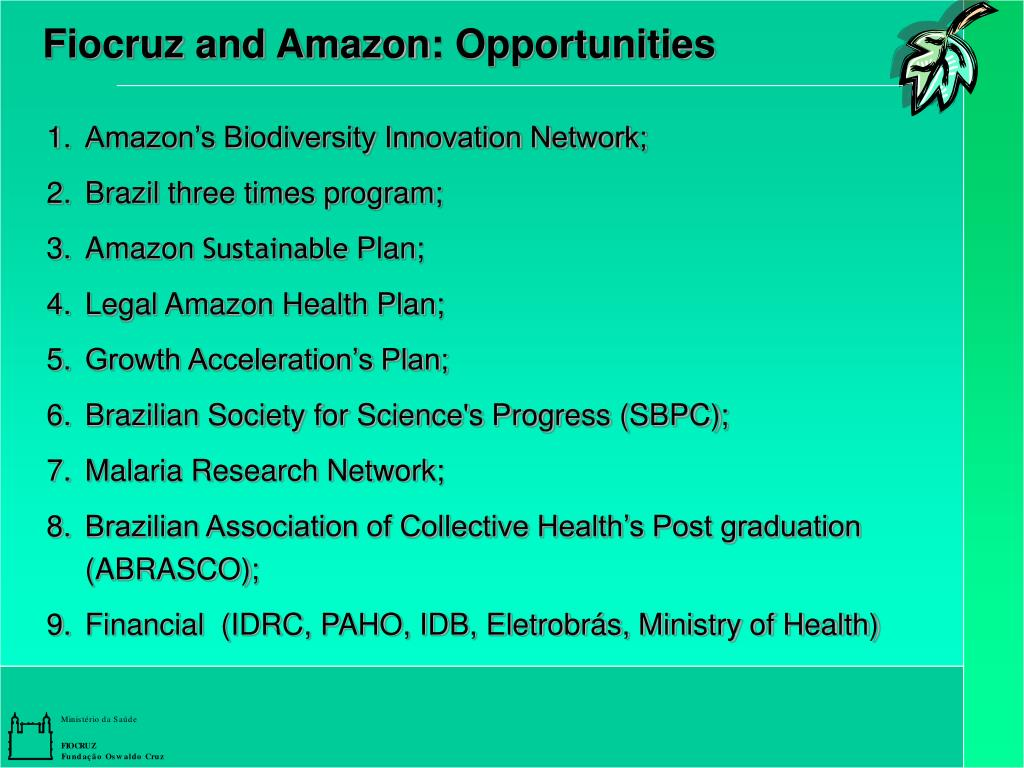 Fiocruz and Amazon: Opportunities