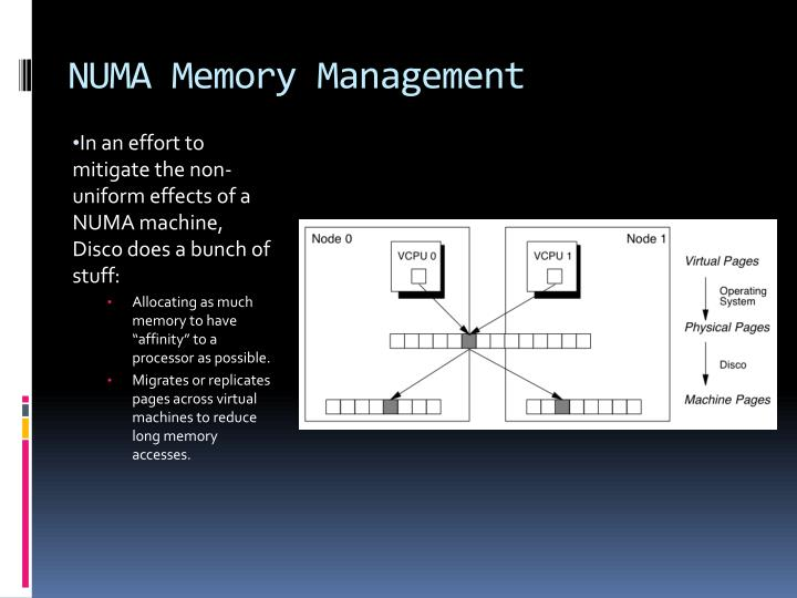 NUMA Memory Management