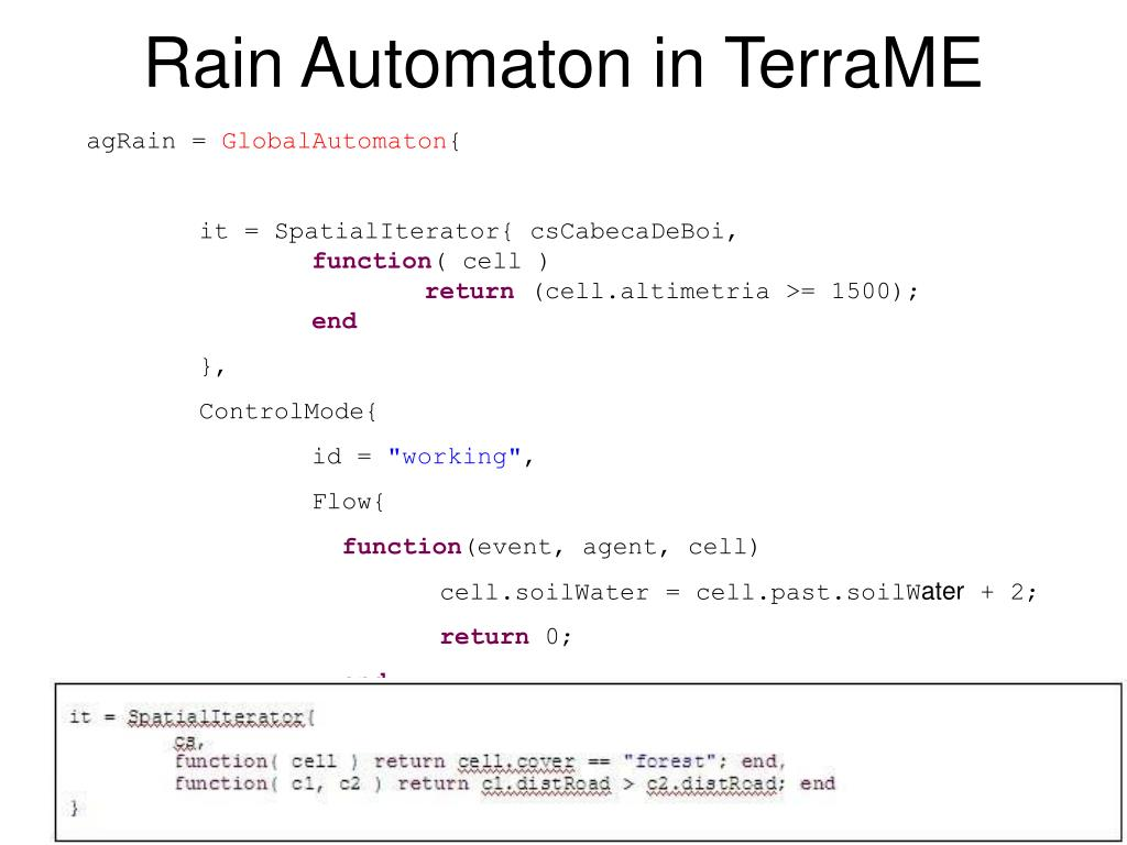Rain Automaton in TerraME