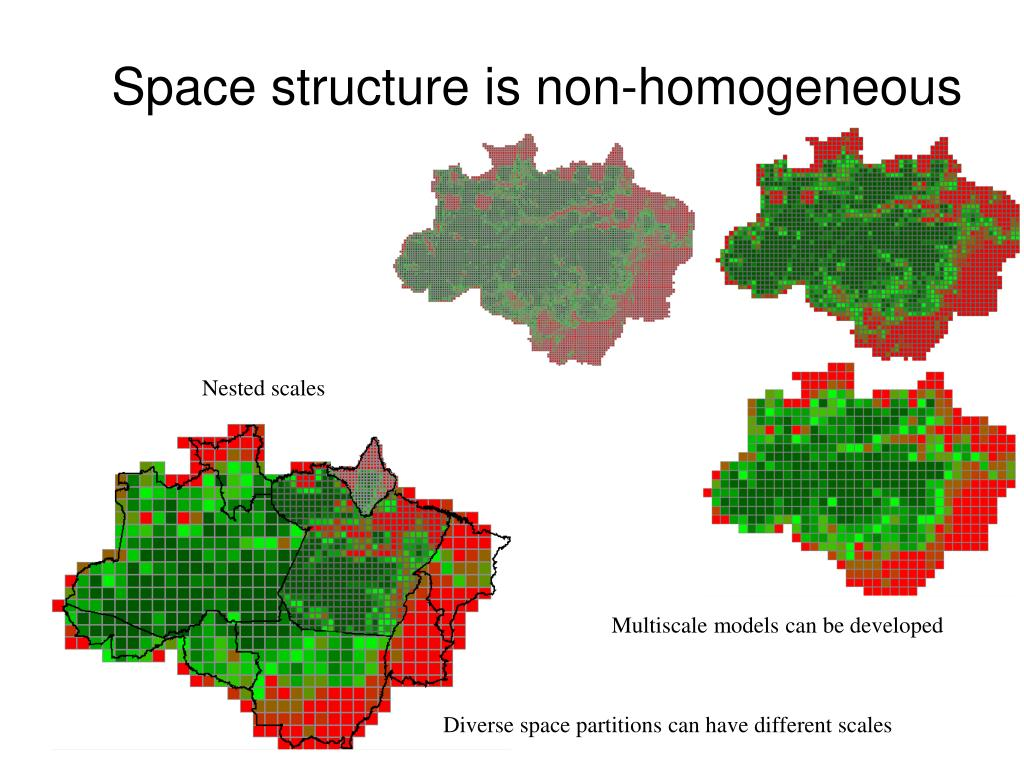 Space structure is non-homogeneous