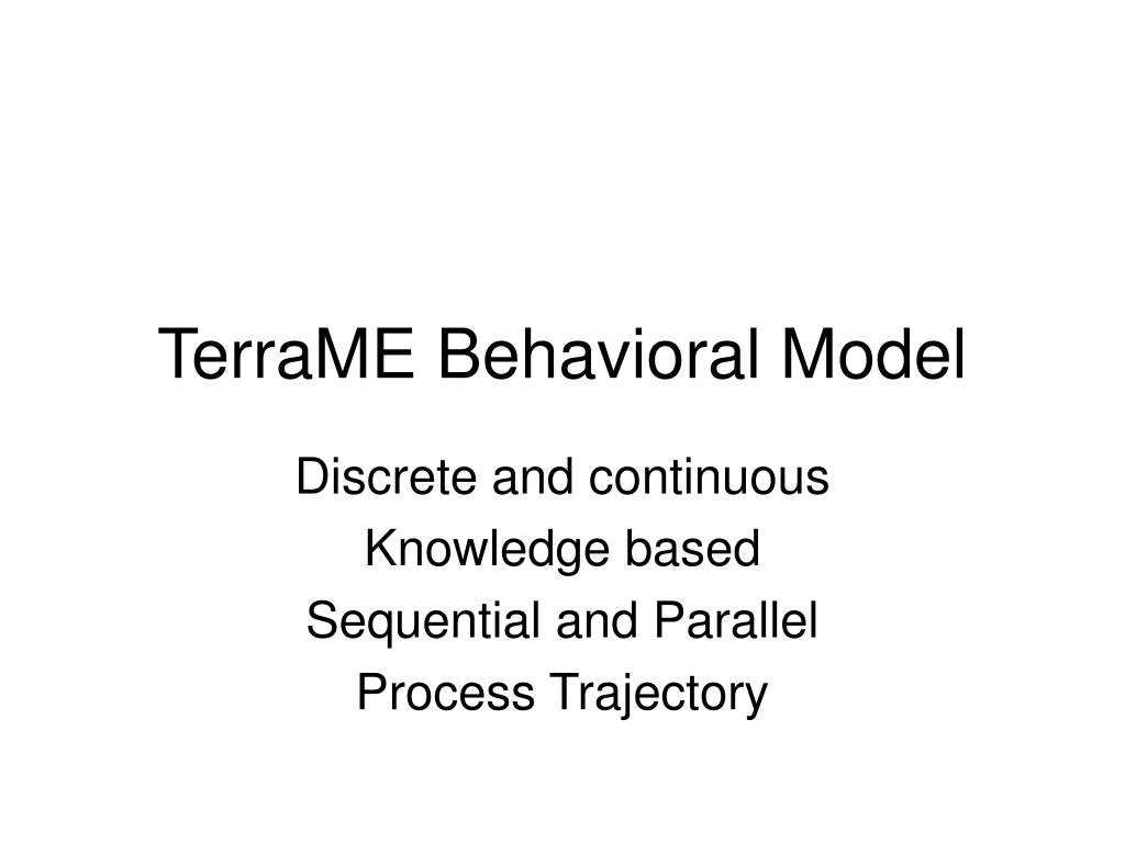 TerraME Behavioral Model