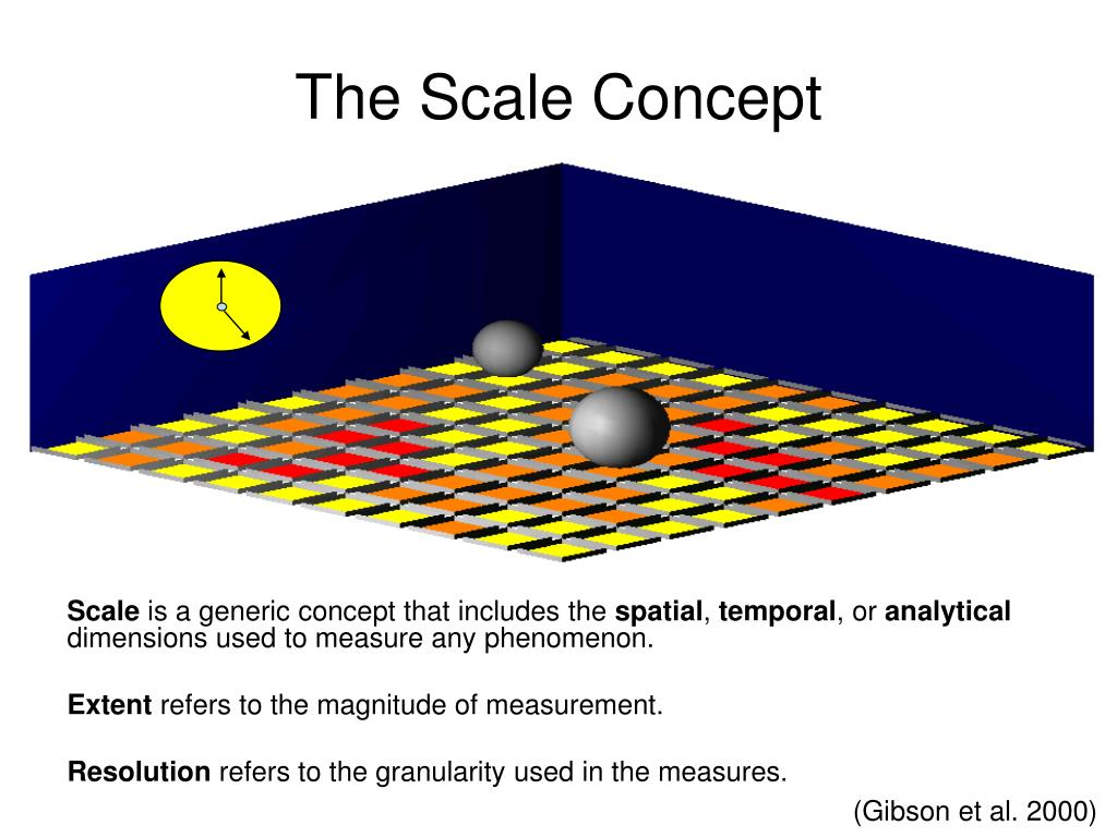 The Scale Concept