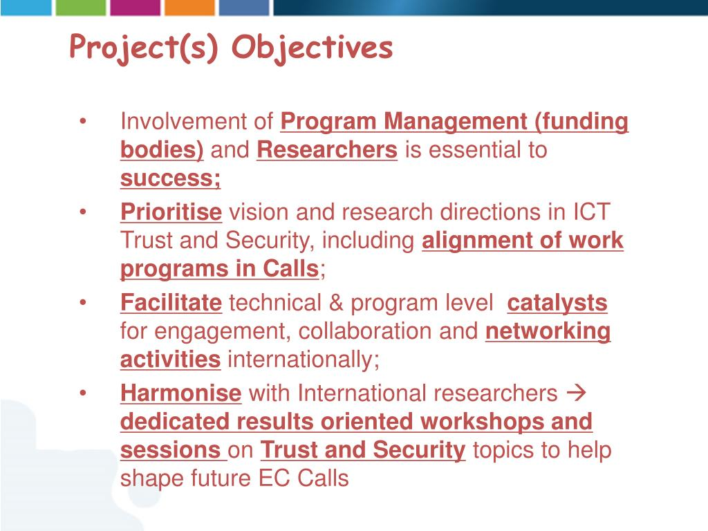 Project(s) Objectives