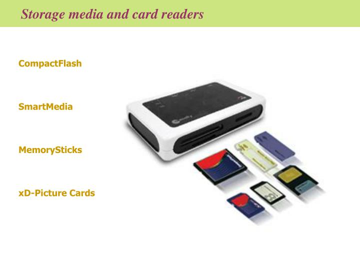 Storage media and card readers