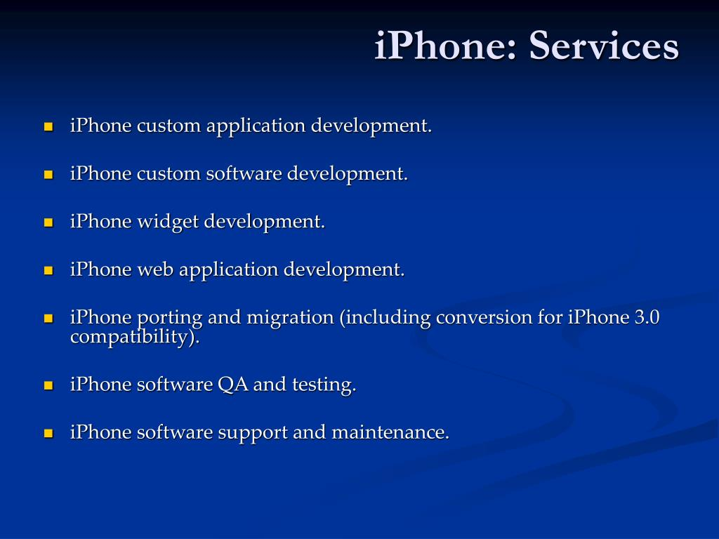 iPhone: Services