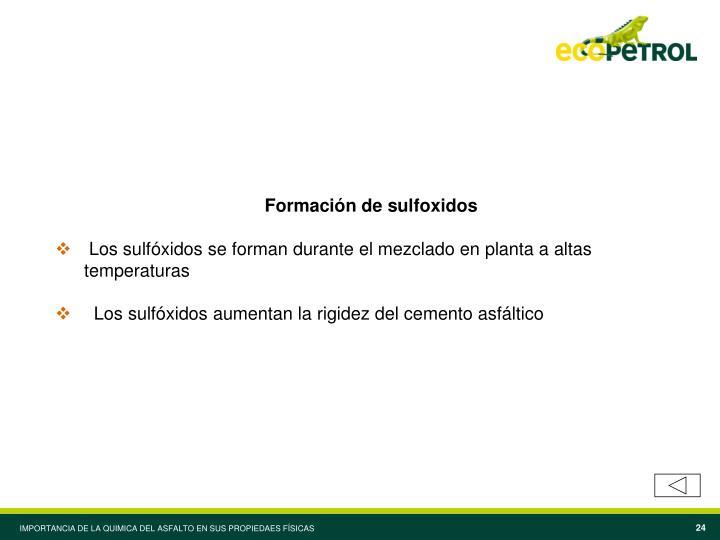Formación de sulfoxidos