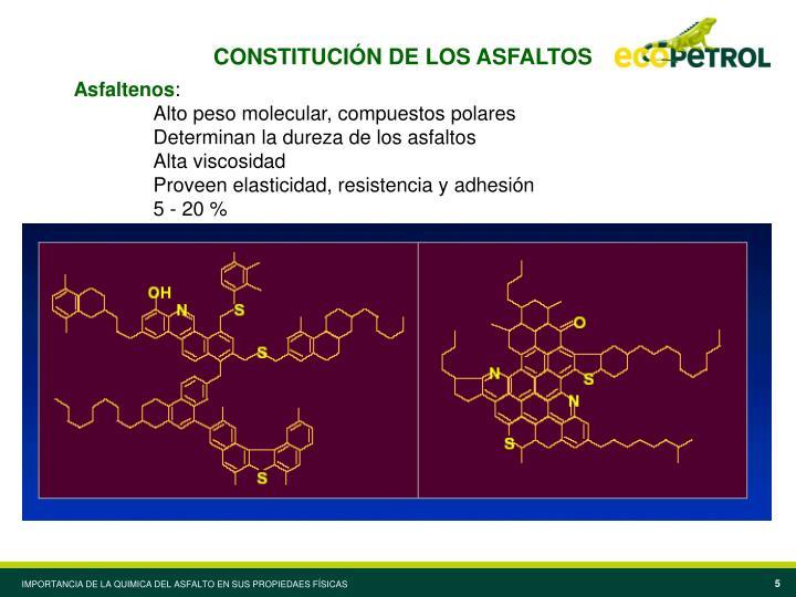 CONSTITUCIÓN DE LOS ASFALTOS