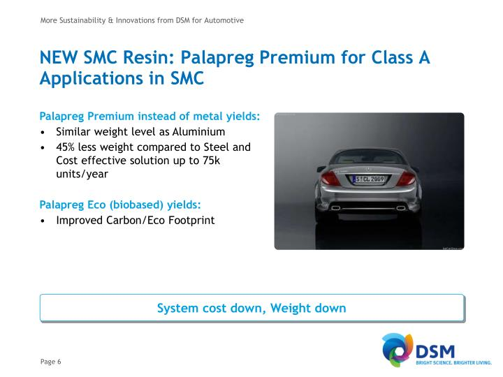 More Sustainability & Innovations from DSM for Automotive
