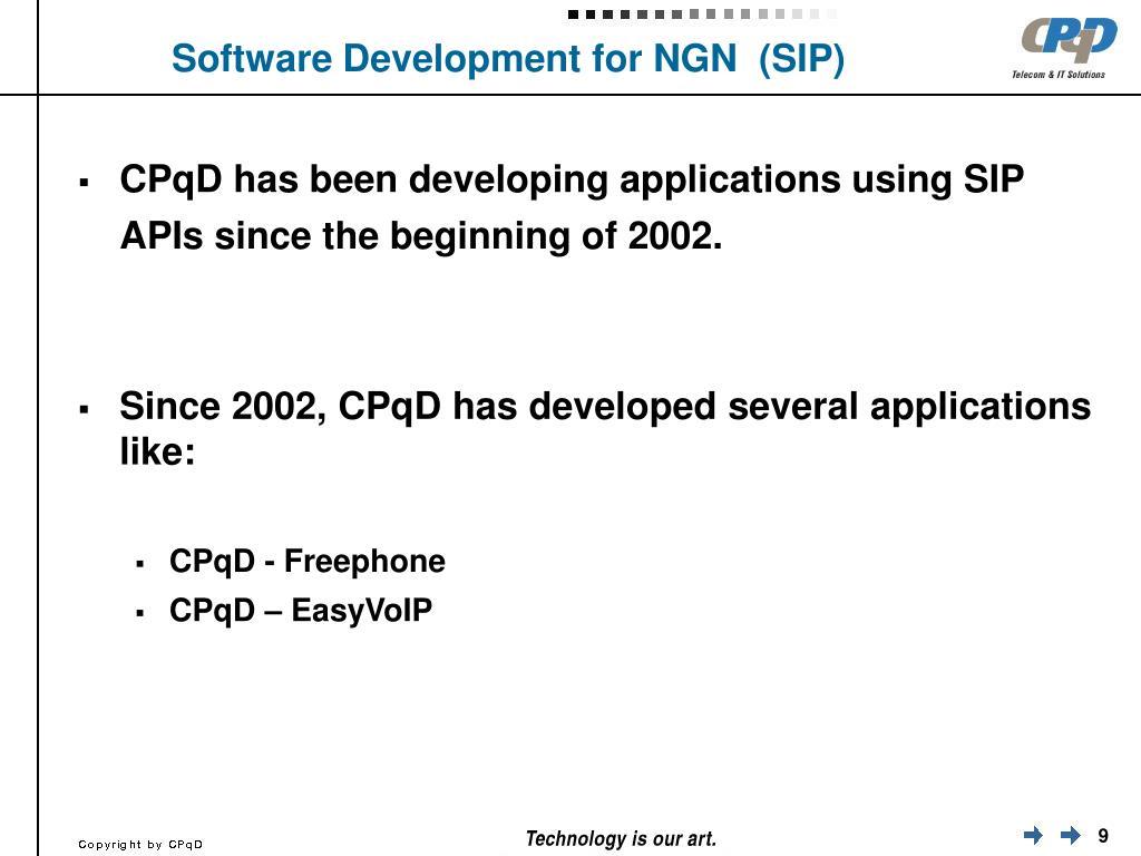 Software Development for NGN  (SIP)