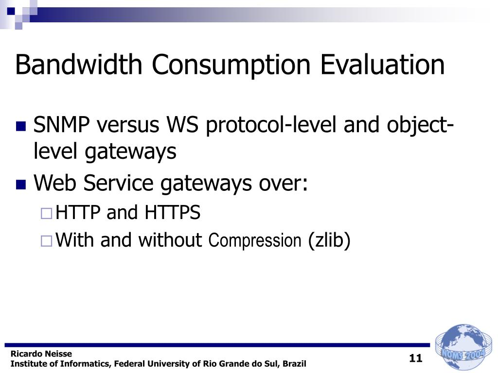 Bandwidth Consumption Evaluation