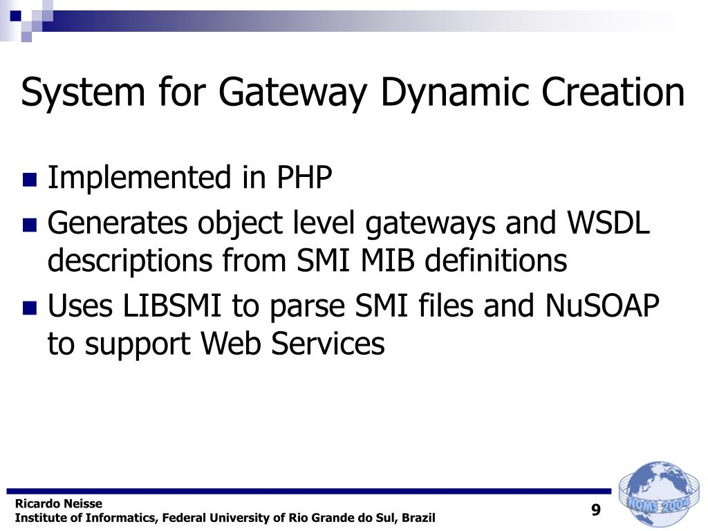 System for Gateway Dynamic Creation