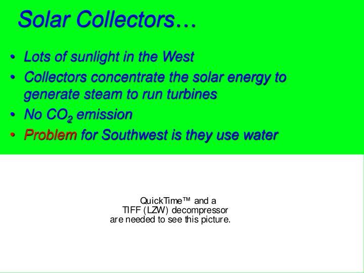 Solar Collectors…
