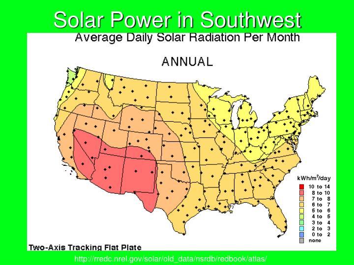 Solar Power in Southwest