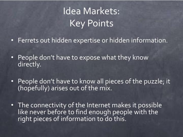 Idea Markets: