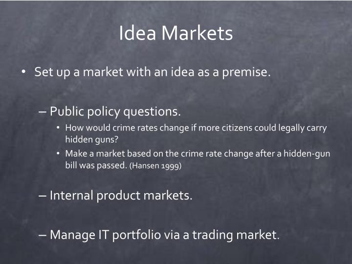 Idea Markets