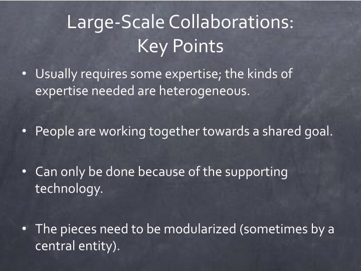 Large-Scale Collaborations: