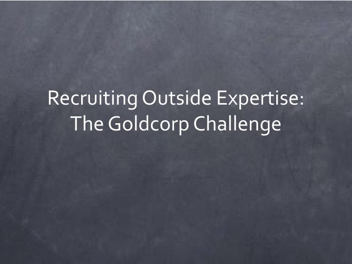 Recruiting Outside Expertise: