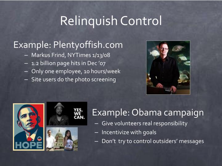 Relinquish Control