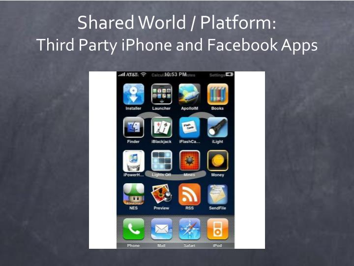 Shared World / Platform: