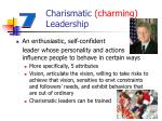 charismatic charming leadership