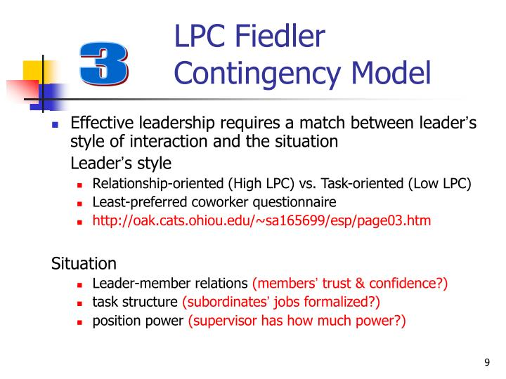 LPC Fiedler Contingency Model