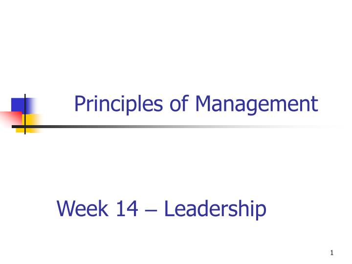 week 14 leadership