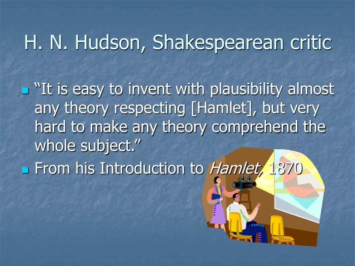 H. N. Hudson, Shakespearean critic